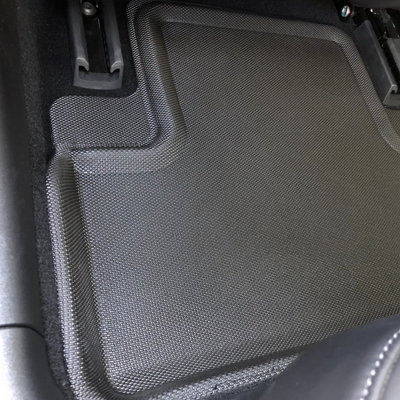 Tesla Model 3 with Kagu floor liners 2nd row