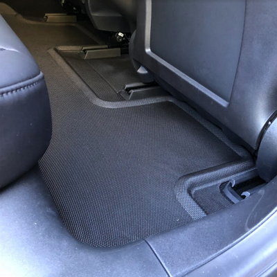 Tesla with Kagu floor liners second row